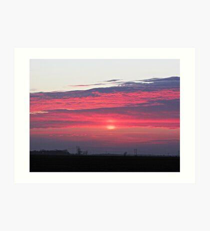 Clouds of Crimson Art Print