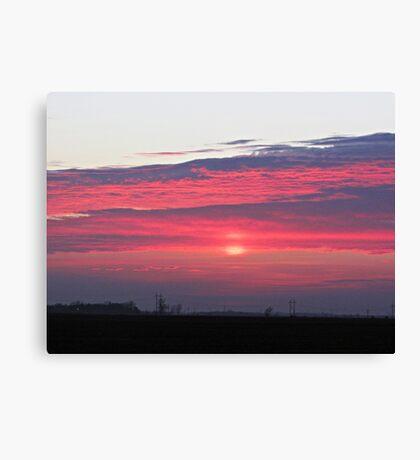 Clouds of Crimson Canvas Print