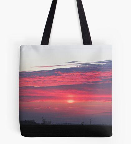 Clouds of Crimson Tote Bag