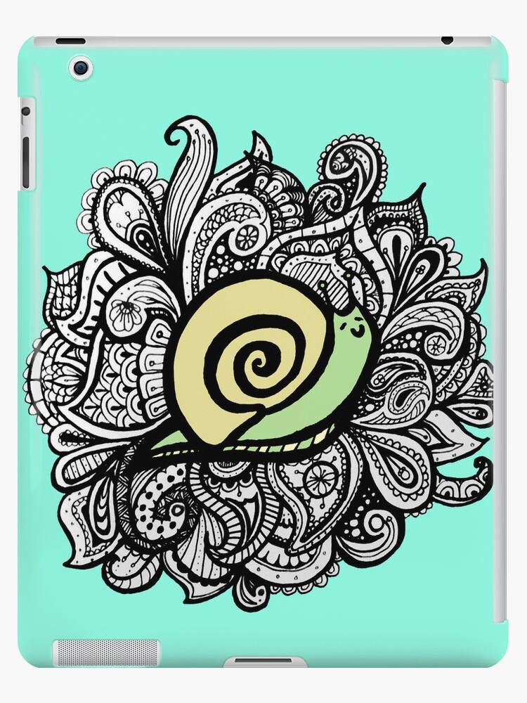 iPad Blue Paisley snail by eleveneleven