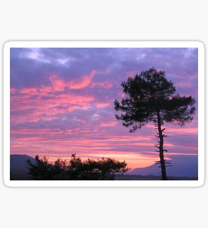 Purple and Pink Sunset Over Akyaka Sakartepe  Sticker