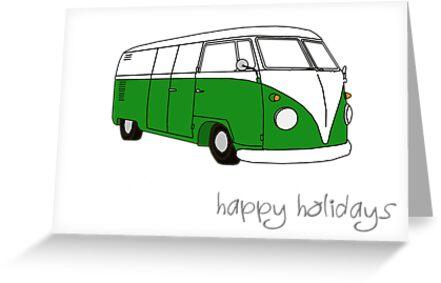 Kombi Xmas - Happy Holidays by Bami