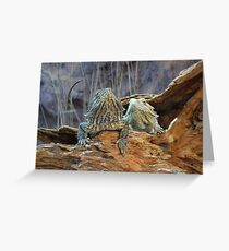 Two curious lizards Greeting Card