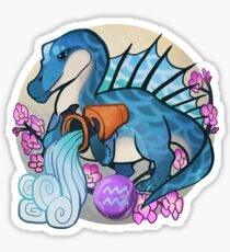 Aquarius Dinosaur Zodiac Sticker