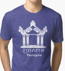Temple - English and Khmer Tri-blend T-Shirt
