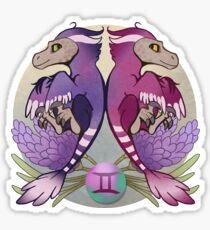 Gemini Dinosaur Zodiac Sticker