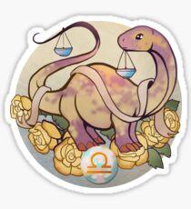 Libra Dinosaur Zodiac Sticker