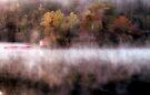Fog At The Kayak Shack by Carolyn  Fletcher
