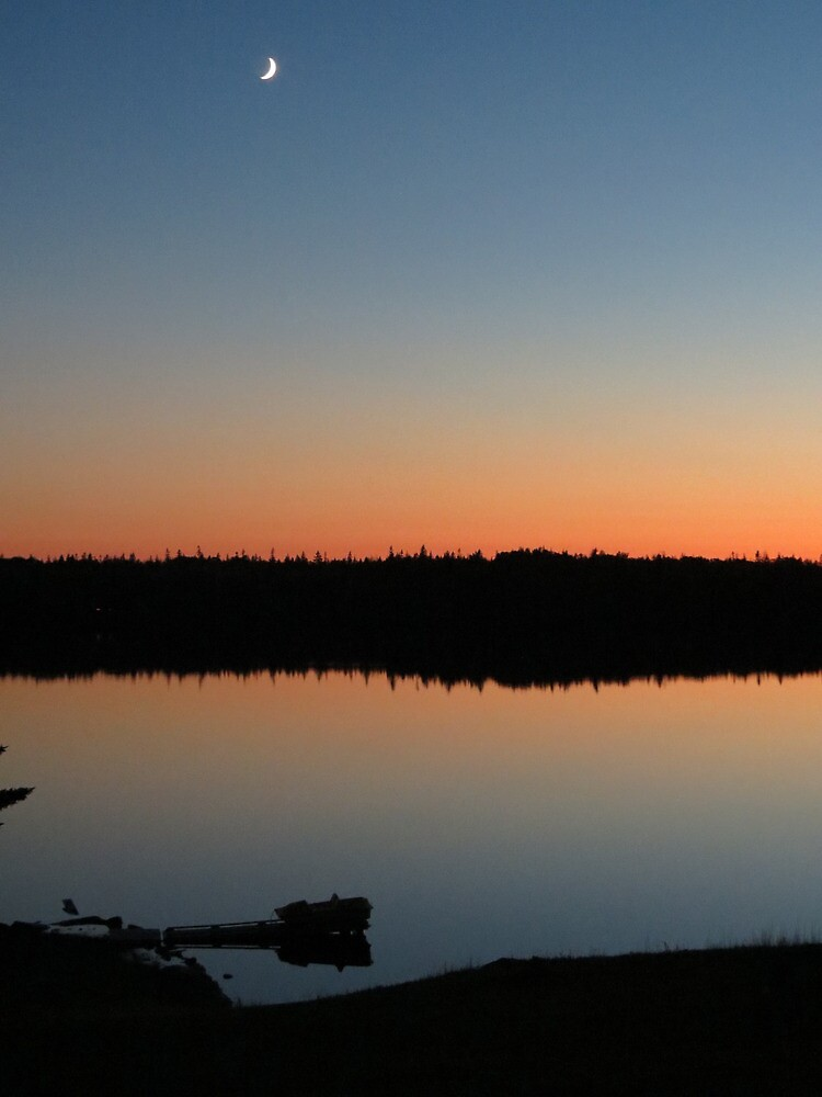 Sunset on the lake by Nicole Gushue