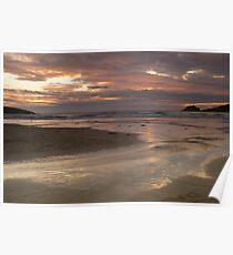 Crantock sunset, Cornwall England Poster