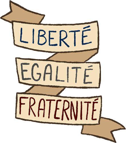 Assez french revolution sticker set- liberté, egalité, fraternité  BW31