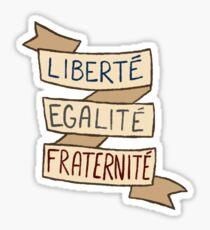 french revolution sticker set- liberté, egalité, fraternité Sticker