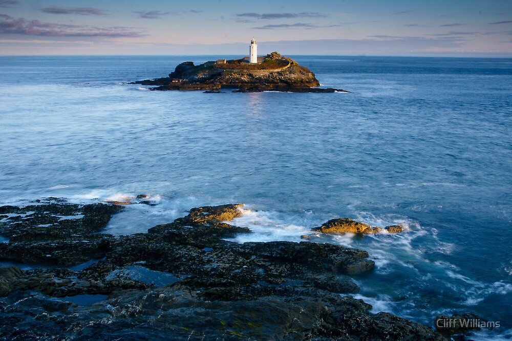Godrevy Lighthouse, Cornwall, England by Cliff Williams