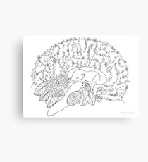 Enchanted forest brain Metal Print