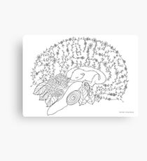 Enchanted forest brain Canvas Print