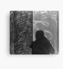 Shadow in Brushed Steel Canvas Print