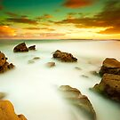 Redhead Beach Sunset by Andy Gock