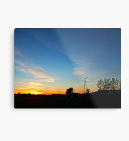 Dakota Dusk Metal Print