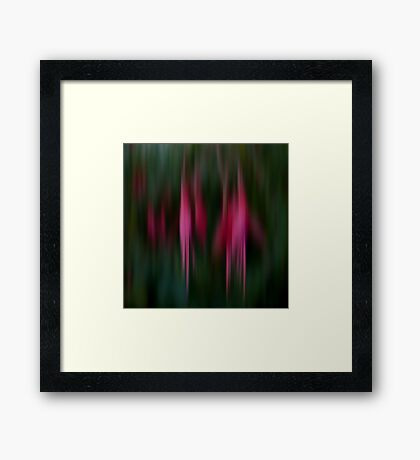 Abstract Flowers Framed Print