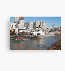 Tugboat & Freighter Canvas Print
