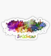 Brisbane skyline in watercolor Sticker