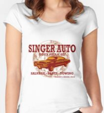 SINGER AUTO Women's Fitted Scoop T-Shirt