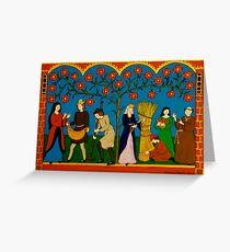 Medieval Harvest Greeting Card