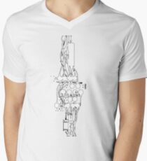 entanglement of wires Men's V-Neck T-Shirt