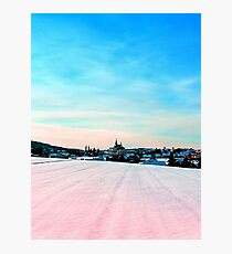 Village scenery in winter wonderland Photographic Print