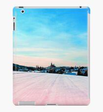 Village scenery in winter wonderland iPad Case/Skin