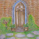 old doorway by thuraya arts