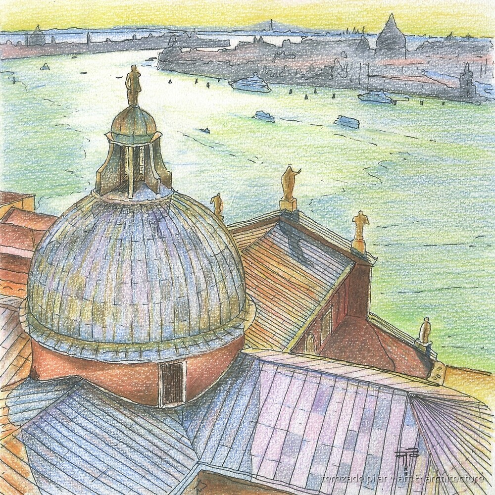 VENICE. View to Grand Canal from Basilica Di San Giorgio Maggiore.  by terezadelpilar ~ art & architecture
