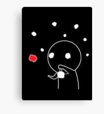 Shadow Guy and the Fireflies Canvas Print
