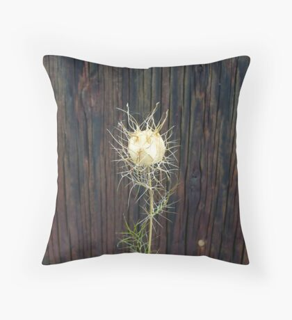 Lacy Seed Pod Throw Pillow