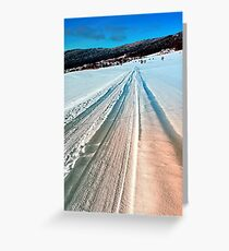Winter road into the mountains Greeting Card