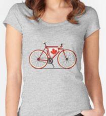 Love Bike, Love Canada Women's Fitted Scoop T-Shirt