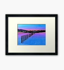 Fences on a winter sundown Framed Print