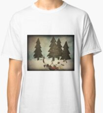 Merry Christmas (textured) Classic T-Shirt