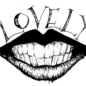Lovely Inky Lips by jackdcurleo