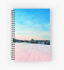 Village scenery in winter wonderland Spiral Notebook