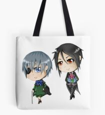 Chibi Ciel und Sebastian Tote Bag