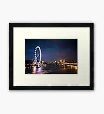 River Thames, London England Framed Print