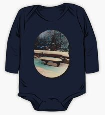Snow covered bench One Piece - Long Sleeve
