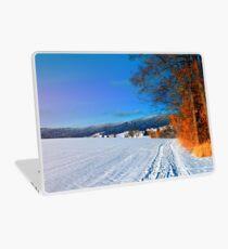 Hiking through a sunny winter scenery Laptop Skin