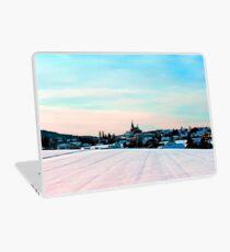 Village scenery in winter wonderland Laptop Skin