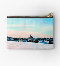 Village scenery in winter wonderland Studio Pouch
