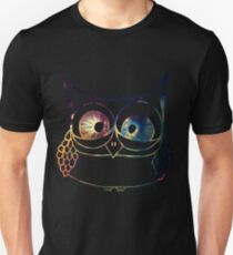 Coloured Freakout Owl Unisex T-Shirt