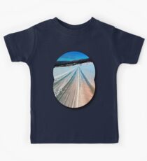 Winter road into the mountains Kids Tee