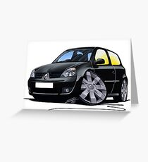 RenaultSport Clio 182 Black Greeting Card
