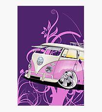 Splitty Floral Purple Photographic Print